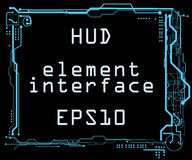 Interface utilisateurs futuriste HUD Photo stock