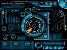 Interface utilisateurs graphique de contact HUD illustration stock
