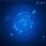 Interface utilisateurs graphique futuriste Photos stock