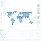 Interface utilisateurs graphique futuriste Photographie stock libre de droits