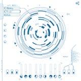 Interface utilisateurs graphique futuriste Photo stock