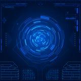 Interface utilisateurs graphique futuriste Photographie stock