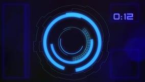 Interface utilisateurs graphique futuriste de HUD banque de vidéos