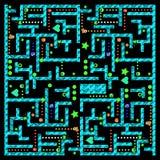 Interface utilisateurs hydraulique moderne de jeu vidéo de labyrinthe de monstre illustration libre de droits