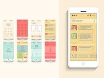 Interface utilisateurs mobile avec l'application différente Images stock