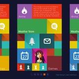Interface utilisateurs moderne plate graphique de Tablette illustration libre de droits