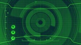 Interface utilisateurs numérique futuriste de HUD Technology, écran radar avec la diverse communication d'affaires d'éléments de  Photos stock