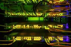 Interface van de vezel de Optische schakelaar Informatietechnologie Computernetwerk royalty-vrije stock afbeelding