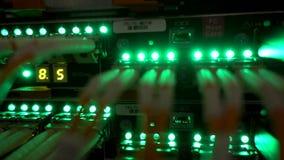 Interface van de vezel de Optische schakelaar Informatietechnologie Computernetwerk, de Optische Verbonden Kabels van de Telecomm stock footage