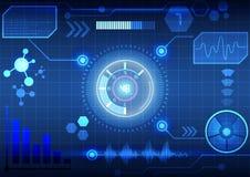 Interface virtuelle moderne de fond de technologie Image libre de droits