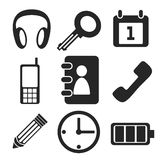 Interface web and mobile icons collection. Vector. Stock Images