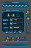 Interfaceknopen die voor ruimtespelen worden geplaatst of apps Stock Afbeeldingen