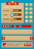 Interfaceknopen voor spelen worden geplaatst dat of apps royalty-vrije illustratie