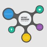 InterfaceVector abstracte achtergrond. Cirkelkleur Stock Afbeeldingen