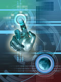Interfaz de Digitaces stock de ilustración