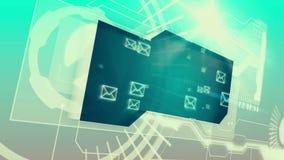 Interfaz de Digitaces con los gráficos del correo electrónico ilustración del vector
