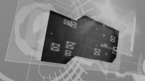 Interfaz de Digitaces con los gráficos del correo electrónico stock de ilustración