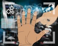 Interfaz de la mano Imagen de archivo