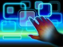 Interfaz de la pantalla táctil Fotos de archivo libres de regalías