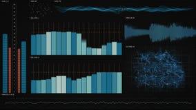 Interfaz de la tecnología de los datos del análisis Foto de archivo