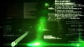 Interfaz de la tecnología en negro y verde libre illustration