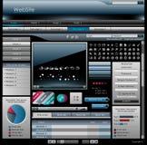 Interfaz de plata del Web Imagen de archivo libre de regalías
