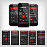 interfaz de usuario del móvil de la plantilla del vector Imagen de archivo libre de regalías