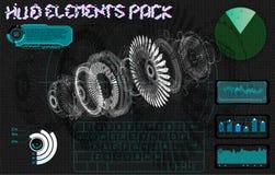 Interfaz de usuario funcional Elementos de la tecnología Estadísticas y datos, información infographic libre illustration