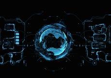 Interfaz de usuario futurista Fotografía de archivo