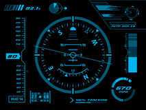 Interfaz de usuario futurista HUD Foto de archivo