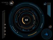 Interfaz de usuario futurista HUD Imagen de archivo