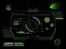 Interfaz de usuario futurista HUD de la pantalla táctil Imagen de archivo libre de regalías