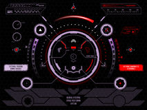 Interfaz de usuario futurista HUD de la pantalla táctil Imagen de archivo