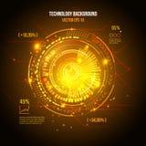 Interfaz de usuario futurista de Sci fi Elemento de HUD Ilustración del vector stock de ilustración