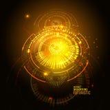 Interfaz de usuario futurista de Sci fi Elemento de HUD Ilustración del vector libre illustration