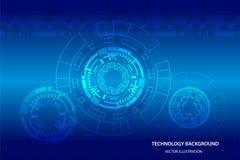 Interfaz de usuario futurista de Sci fi, HUD, fondo abstracto de la tecnología, ejemplo del vector stock de ilustración