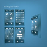Interfaz de usuario gráfica del diseño plano para el smartphone Imagen de archivo