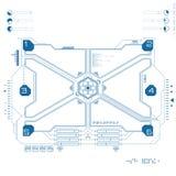 Interfaz de usuario gráfica futurista Imagenes de archivo