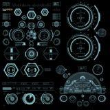 Interfaz de usuario gráfica virtual azul futurista del tacto Imagenes de archivo