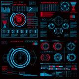 Interfaz de usuario gráfica virtual azul futurista del tacto Imagen de archivo libre de regalías