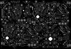 Interfaz de usuario gráfica virtual futurista del tacto, HUD imagen de archivo libre de regalías