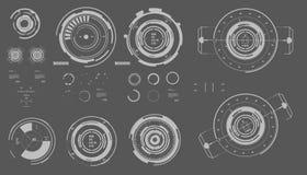 Interfaz de usuario gráfica virtual futurista del tacto, HUD Fotografía de archivo libre de regalías