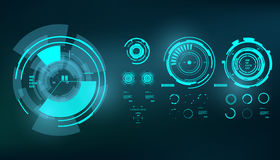 Interfaz de usuario gráfica virtual futurista del tacto, HUD Fotografía de archivo