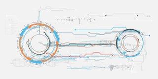 Interfaz de usuario gráfica virtual futurista HUD del tacto del concepto Imagen de archivo