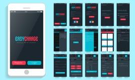 Interfaz de usuario móvil para las opciones en línea del pago ilustración del vector