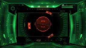 Interfaz de visión robótica futurista almacen de metraje de vídeo