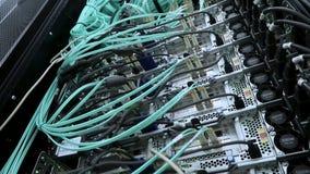 Interfaz del conector óptico de la fibra Servidor grande almacen de metraje de vídeo