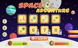Interfaz del juego del Scifi Foto de archivo libre de regalías