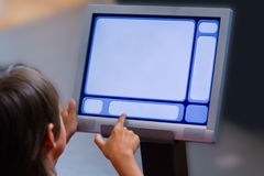 Interfaz del ordenador del niño Fotografía de archivo