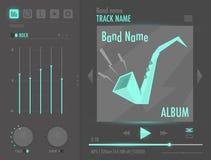 Interfaz del reproductor de audio del vector Foto de archivo